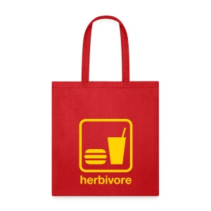 Herbivore Tote Bag (Yellow Ink) - Tote Bag