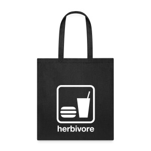 Herbivore Tote Bag (White Ink) - Tote Bag