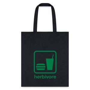Herbivore Tote Bag (Green Ink) - Tote Bag