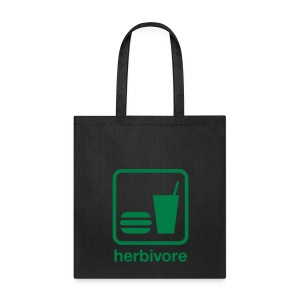 Herbivore Tote Bag (Green Ink) - Tote Bag
