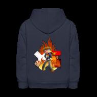 Sweatshirts ~ Kids' Hoodie ~ Kid's Navy Fire Dan Hooded Sweatshirt