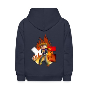 Kid's Navy Fire Dan Hooded Sweatshirt - Kids' Hoodie