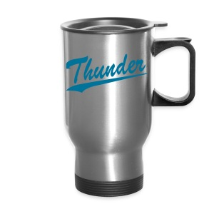 Thunder Blue Letters Travel Mug - Travel Mug