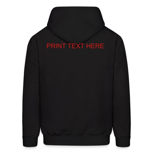 Men's Hoodie - High Quailty Print  customer can customize text on all products with text N/A to picture prints