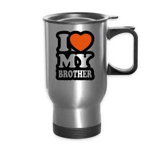 I Love My Brother Travel Mug - Travel Mug