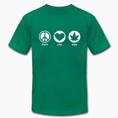 Peace Love Weed T-Shirts