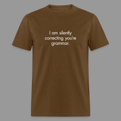 Silent Correction - Men's T-Shirt