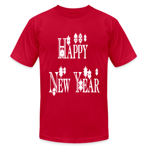 Happy New Year 2014 - Men's T-Shirt by American Apparel