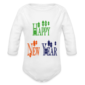 Happy New Year 2014 - Long Sleeve Baby Bodysuit