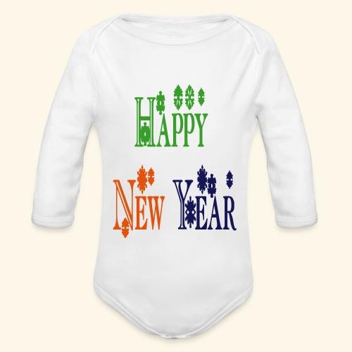 Happy New Year 2014 - Organic Long Sleeve Baby Bodysuit