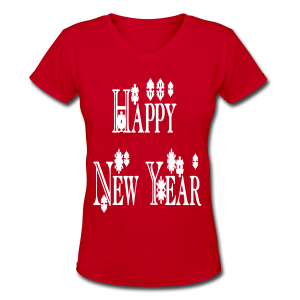 Happy New Year 2014 - Women's V-Neck T-Shirt