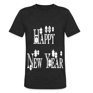 Happy New Year 2014 - Unisex Tri-Blend T-Shirt by American Apparel