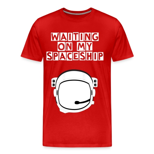 Waiting On My Spaceship HELMET - Men's Premium T-Shirt