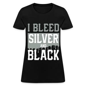 Silver n Black  - Women's T-Shirt