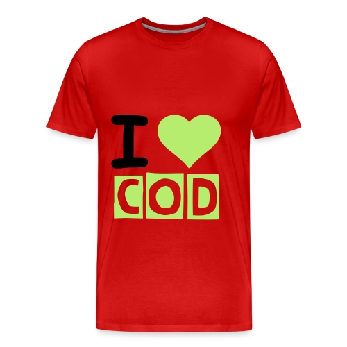 I Love Cod Shirt - Men's Premium T-Shirt