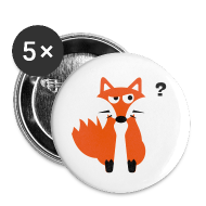 Buttons ~ Large Buttons ~ What Does The Fox Say Buttons