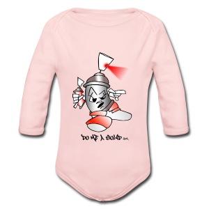 SolidLogo - Long Sleeve Baby Bodysuit