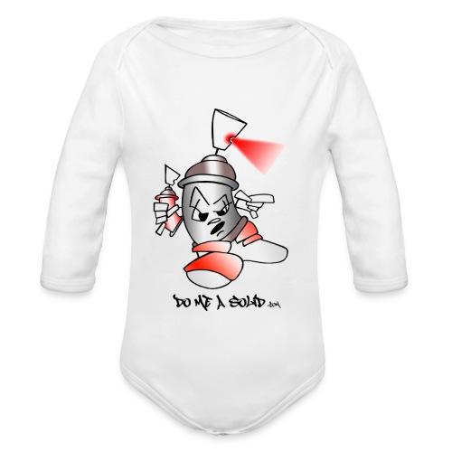 SolidLogo - Organic Long Sleeve Baby Bodysuit
