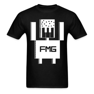 FMG Tee | White on Black - Men's T-Shirt