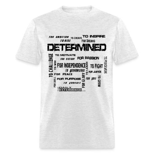 Determined Words Men's White Shirt - Men's T-Shirt