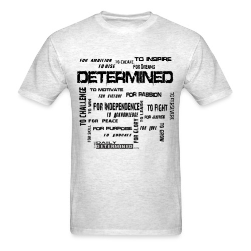 Determined Words Men's White Shirt - Men's T-Shirt
