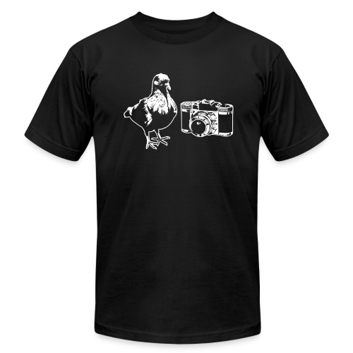 'Pigeon Camera' Tee - Men's Fine Jersey T-Shirt