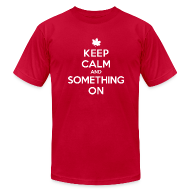 T-Shirts ~ Men's T-Shirt by American Apparel ~ 'Something On' Tee