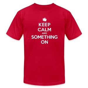 'Something On' Tee - Men's T-Shirt by American Apparel