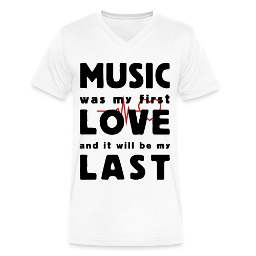 Music lover - Men's V-Neck T-Shirt by Canvas