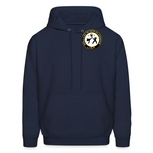 Men's Hoodie - Small logo on front-Large logo on back
