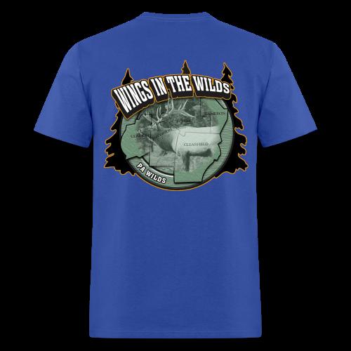 Men's Standard T- w/back & chest logo (Gold Glitz) - Men's T-Shirt