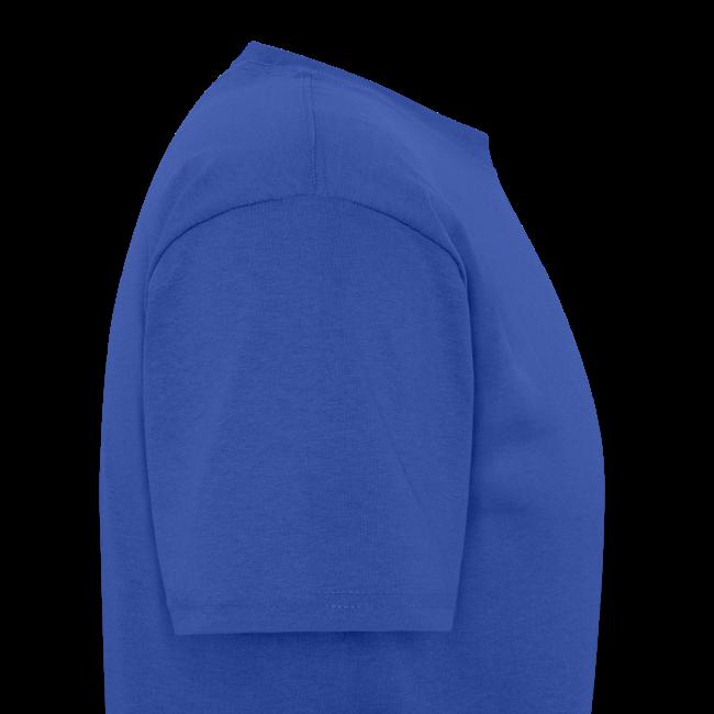 Men's Standard T- w/back & chest logo (Gold Glitz)