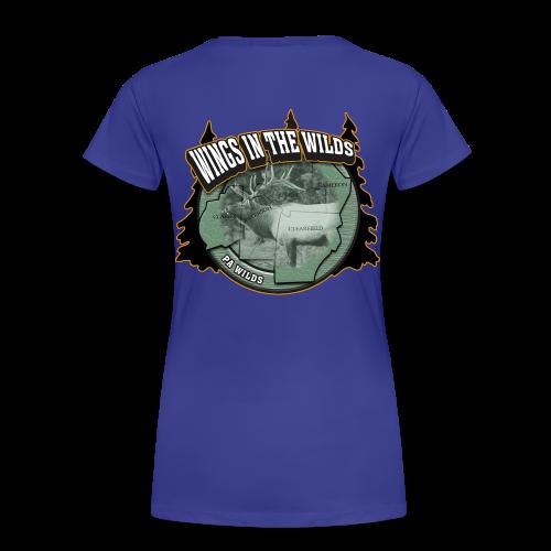 Women's Premium T- w/back & chest logo (Gold Glitz) - Women's Premium T-Shirt