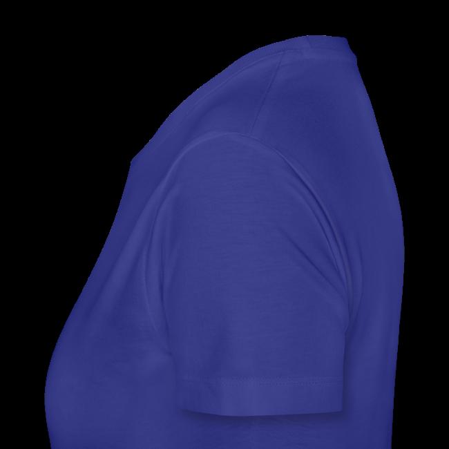 Women's Premium T- w/back & chest logo, name (Gold Glitz)