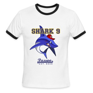 Passpo Shark White/Navy - Men's Ringer T-Shirt