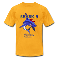 T-Shirts ~ Men's T-Shirt by American Apparel ~ Passpo Shark Gold