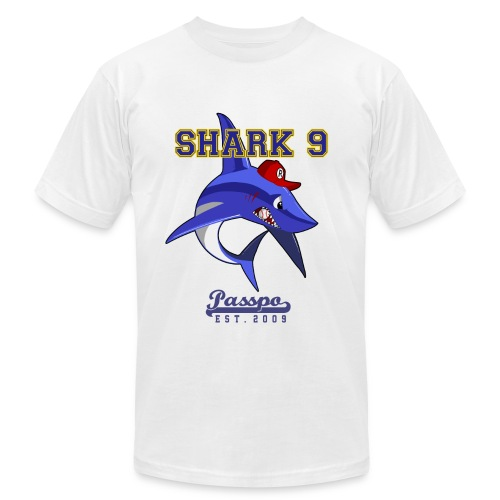 Passpo Shark Gold - Men's T-Shirt by American Apparel
