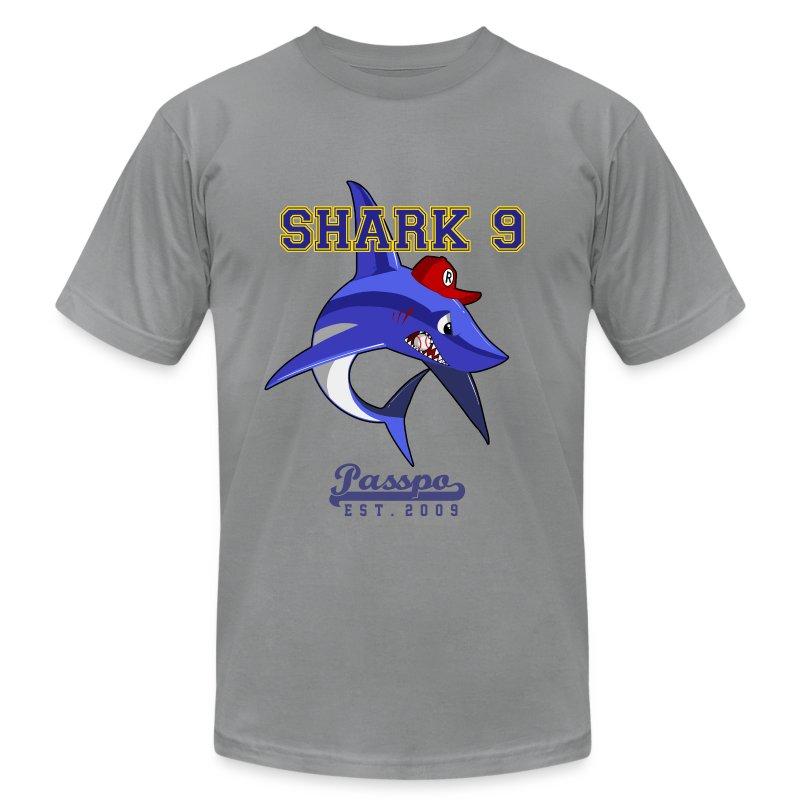 Passpo Shark Slate - Men's Fine Jersey T-Shirt