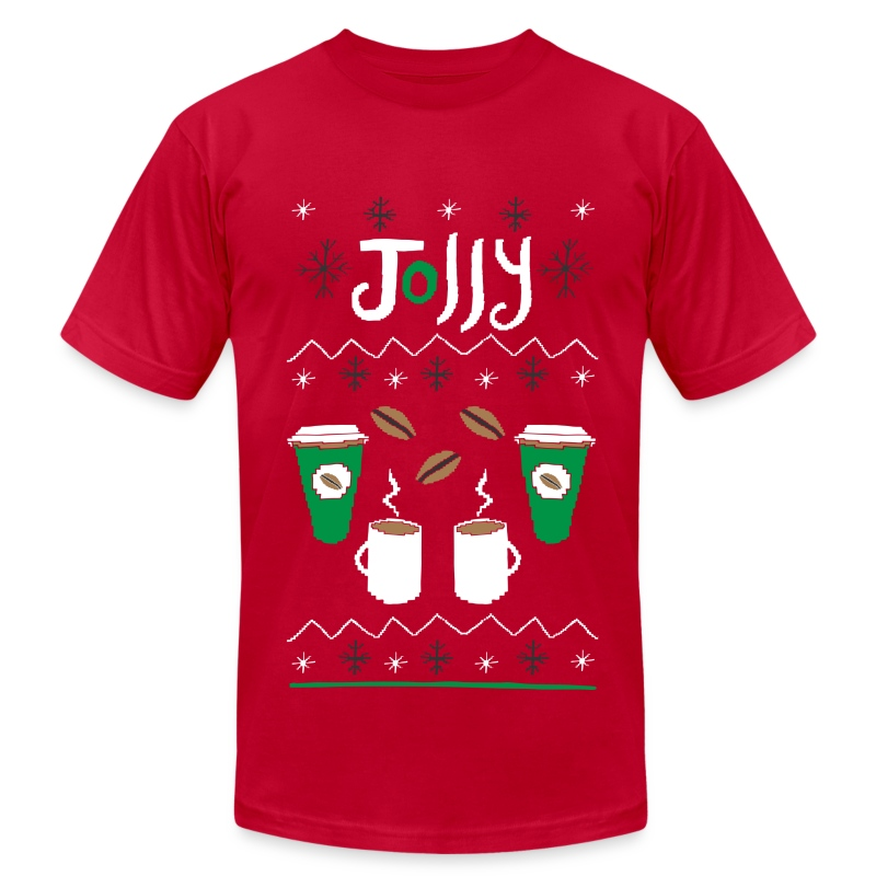 Ugly sweater coffee t shirt spreadshirt for Tacky t shirt ideas