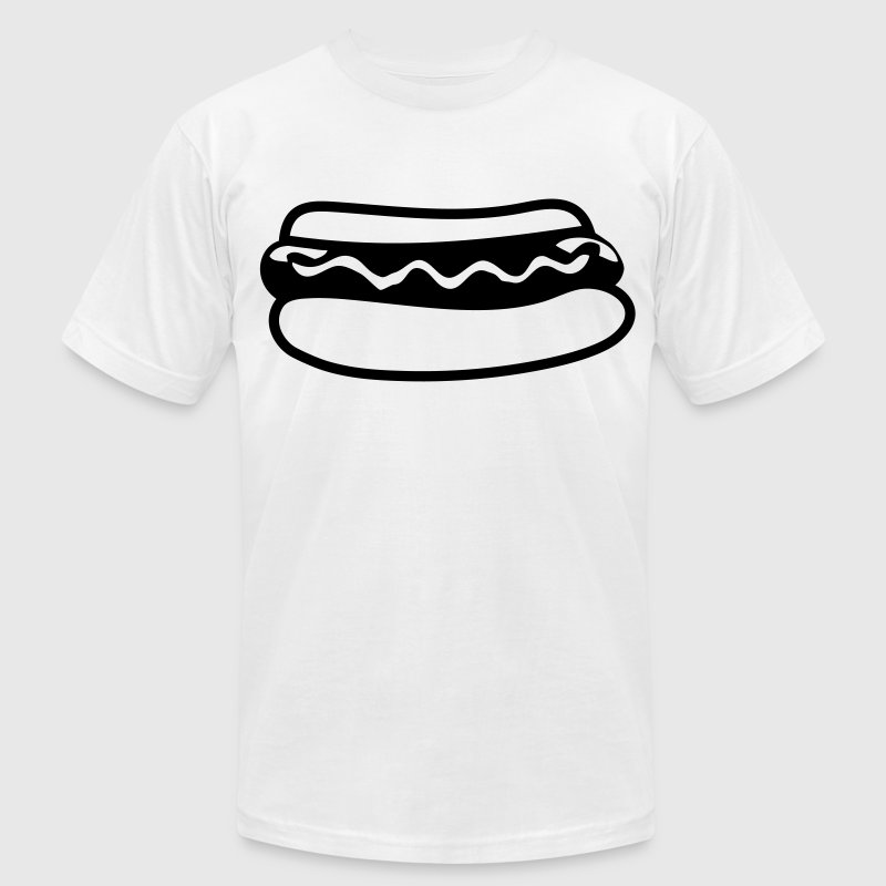 HOT DOG T-Shirts - Men's T-Shirt by American Apparel