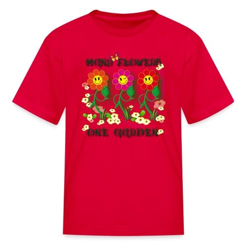 Many Flowers One Garden - Kids' T-Shirt