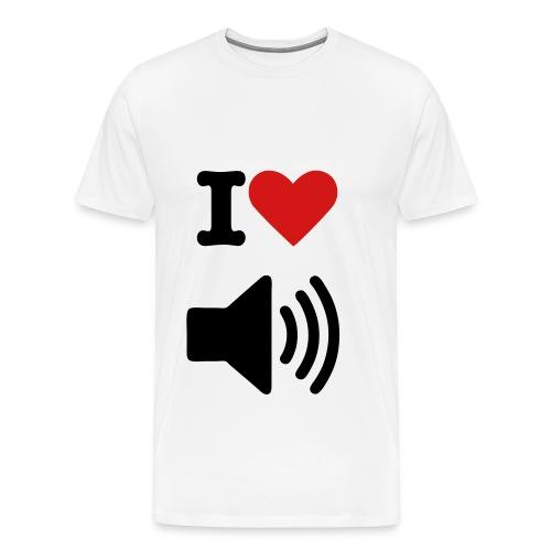 I love music t-shirt - Men's Premium T-Shirt