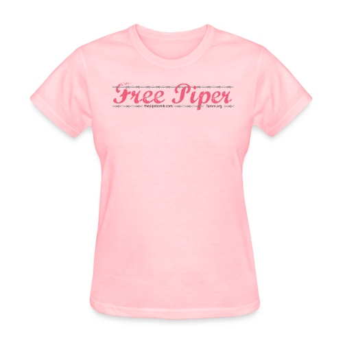 Original Free Piper- front and back design  - Women's T-Shirt