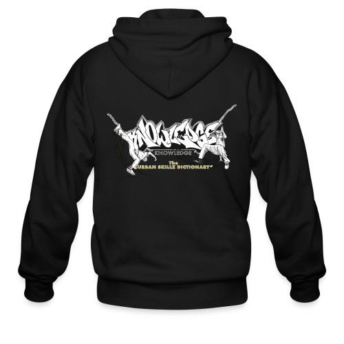 KNOWLEDGE - the urban skillz dictionary - promo shirt - Men's Zip Hoodie