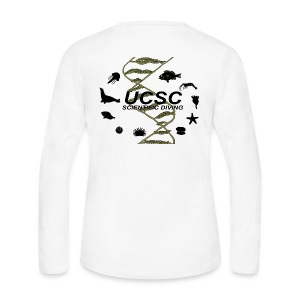 Santa Cruz Classic Scientific Diving Women's Long Sleeve T-Shirt - Women's Long Sleeve Jersey T-Shirt