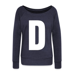 D Wide Neck Sweater  - Women's Wideneck Sweatshirt