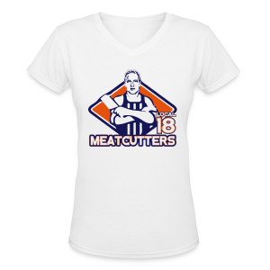 Meatcutters Local 18 2.1 - Ladies V-Neck - Women's V-Neck T-Shirt