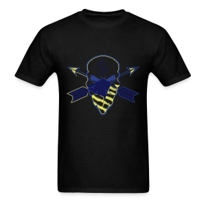 Skull Gamma Blue - Men's T-Shirt