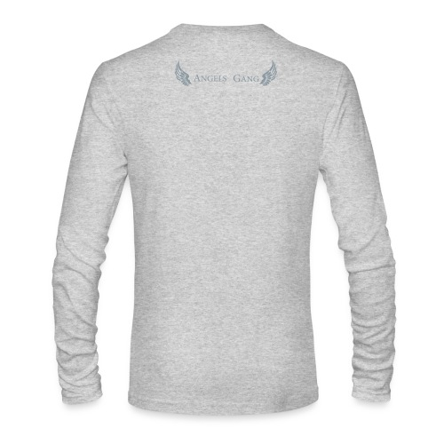 Men's/LS round neck/ Angels Gang Logo in silver flex print on back - Men's Long Sleeve T-Shirt by Next Level