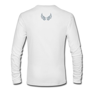 Men's/LS round neck/ Small AG Logo in silver flex print on back - Men's Long Sleeve T-Shirt by Next Level